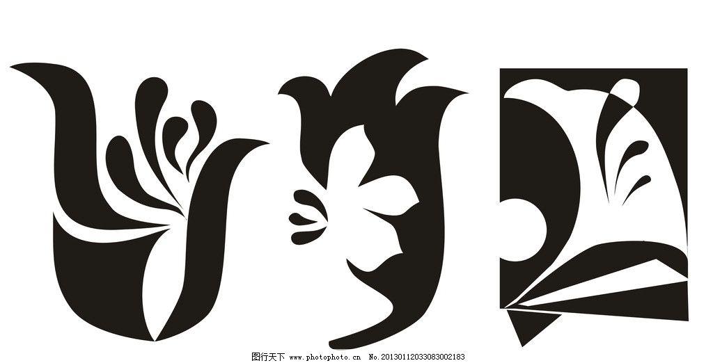 花纹 欧式花纹 鸟剪影 线条 psd分层素材 源文件 72dpi psd