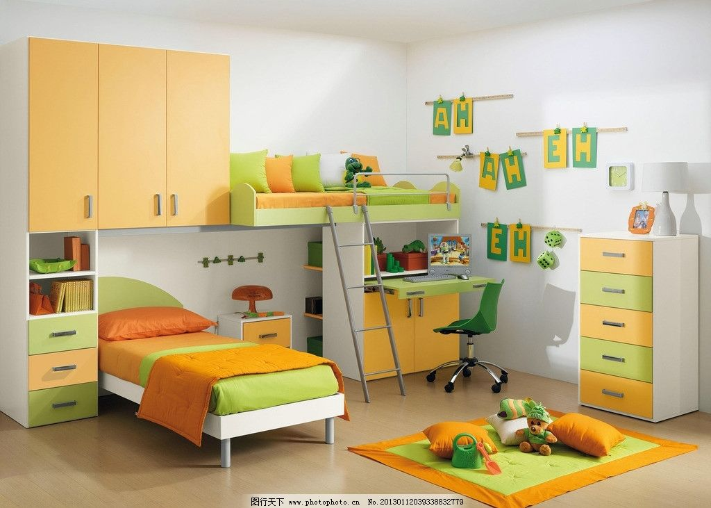 可爱儿童房图片