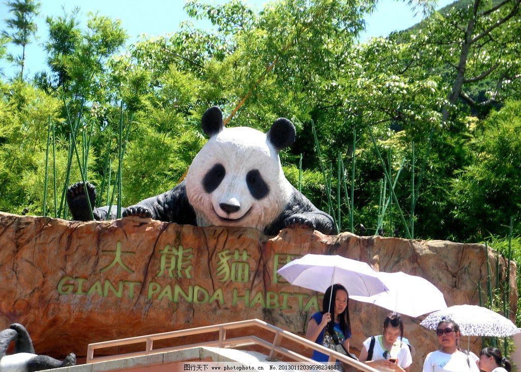 熊猫馆 动物园 台湾 公园 竹子 竹林 园林建筑 建筑园林 摄影
