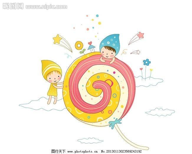 可爱儿童 可爱风格的儿童矢量插画 卡通线条风格可爱儿童插画 卡通 线