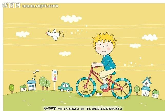 风格可爱儿童插画 卡通 线条风格 可爱 儿童 韩国 男孩子 女孩子 手绘