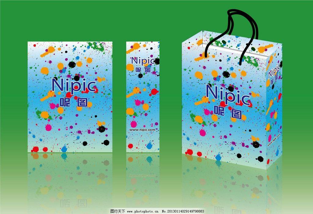 手挽袋 手提袋 包装设计 包装袋 花纹 潮流花纹 时尚花纹 精美花纹
