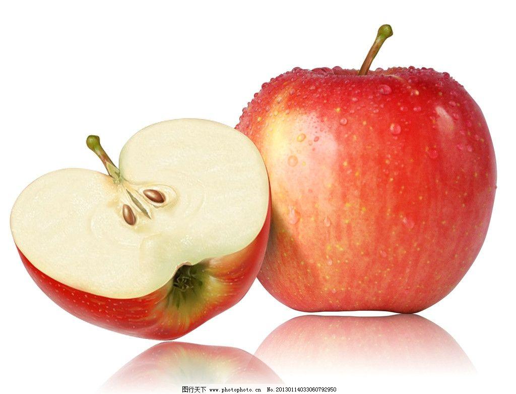 苹果 水果 红苹果 绿苹果 青苹果 切开的苹果 psd分层素材 源文件 300图片