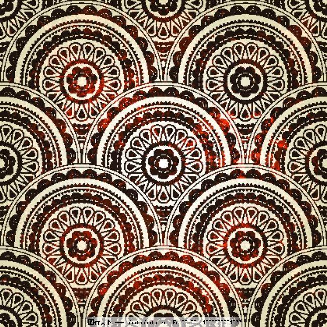 矢量古典花纹样式抽象背景