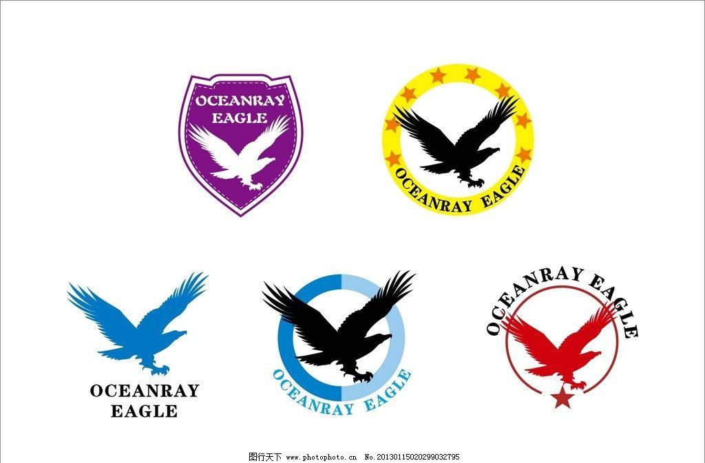 鹰 logo 设计 老鹰 盾牌 logo设计 素材矢量 底纹背景 底纹边框 矢量