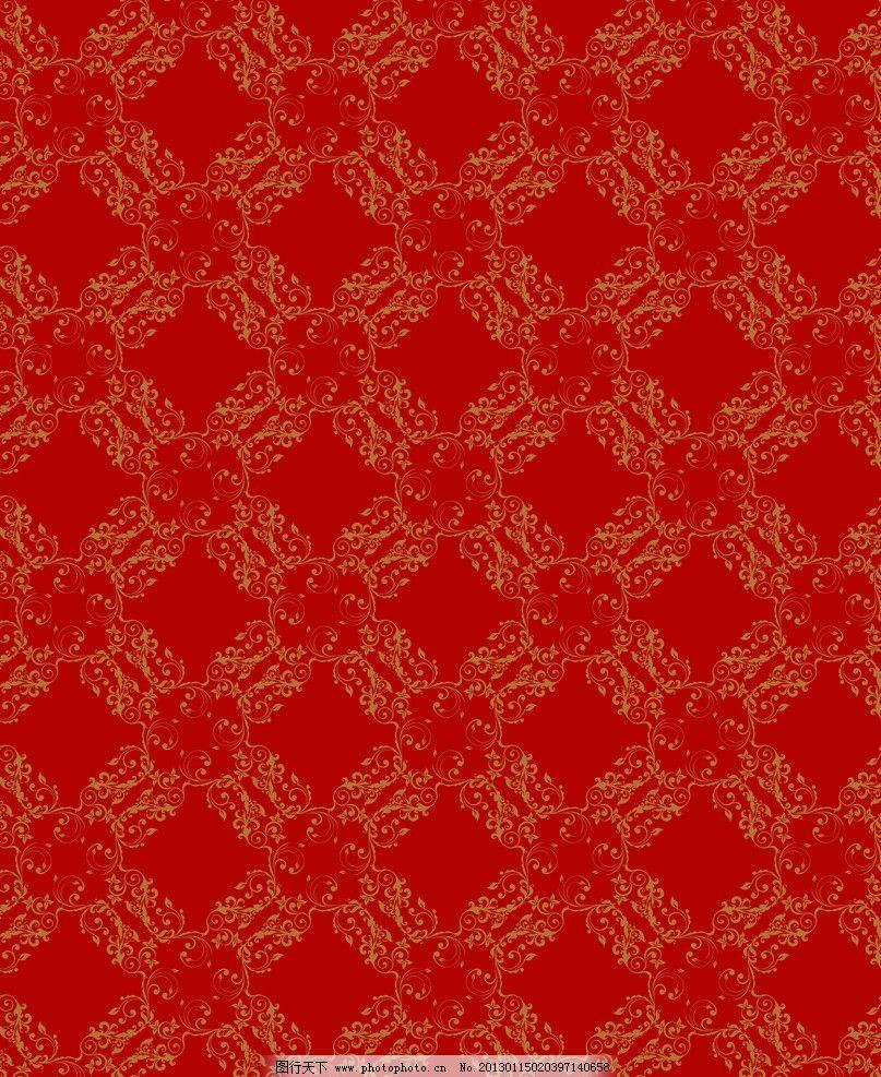 欧式花纹 红色背景 奢华