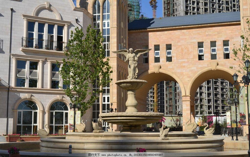 欧式风情建筑图片