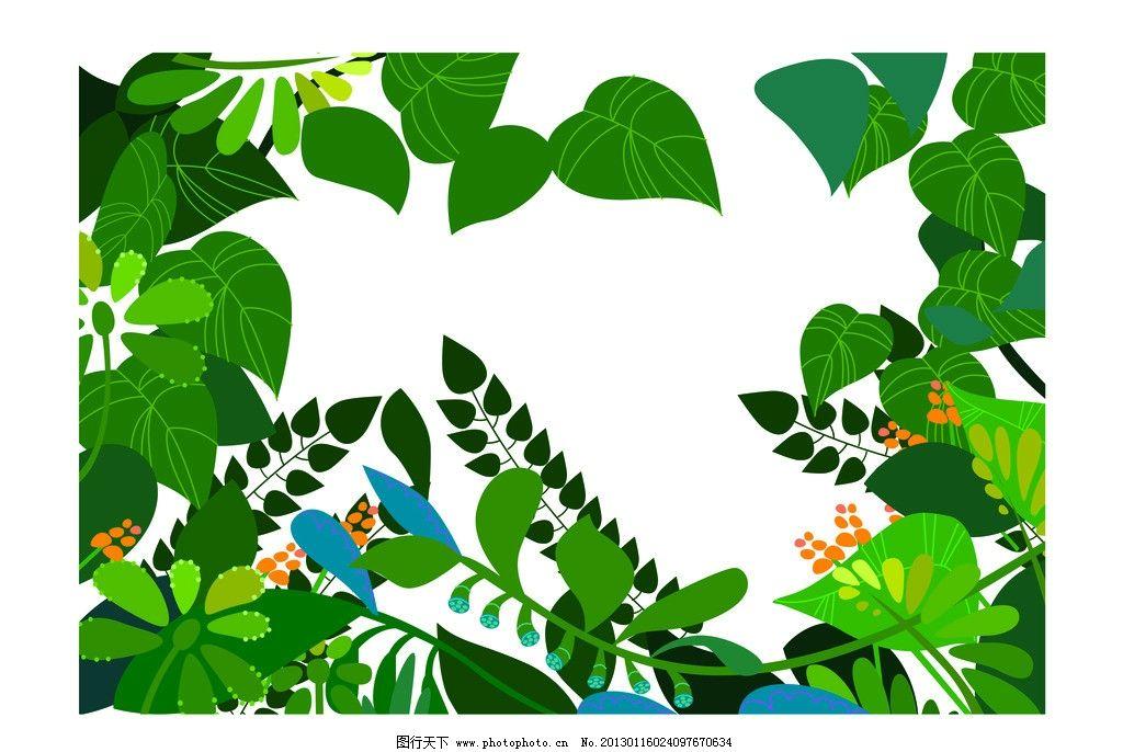 丛林 树叶 密林图片