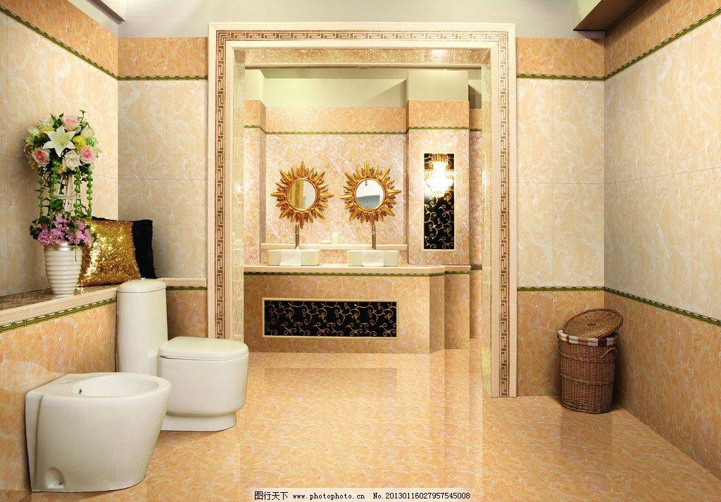 酒店卫浴 陶瓷瓷砖 家居空间 洗手间 卫生间 沐浴室 马桶 相框