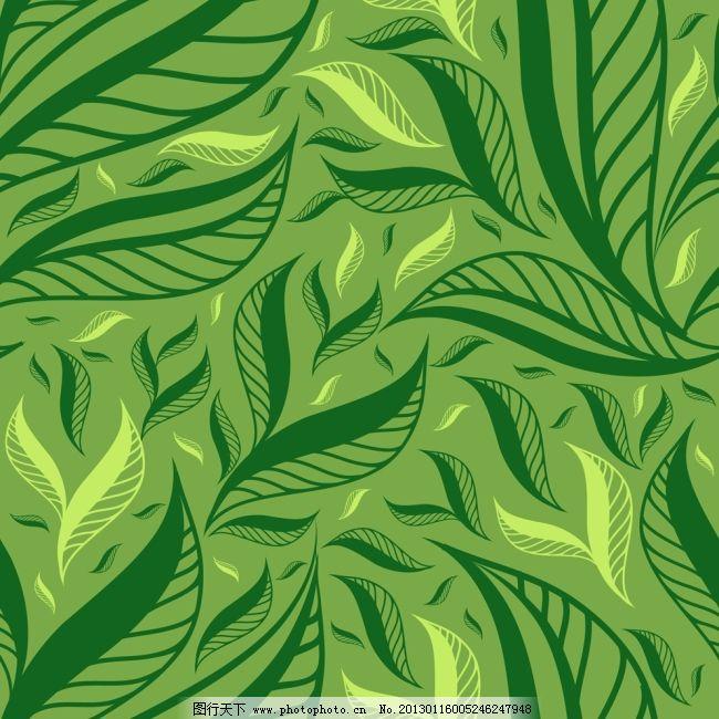 绿叶背景矢量素材免费下载 背景 绿叶 矢量素材 叶脉 叶子 绿叶 叶脉