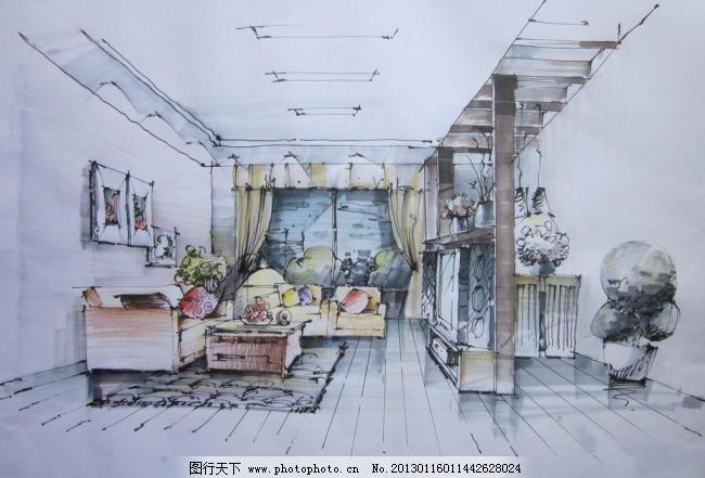 室内客厅效果图 室内客厅效果图 室内 设计 手绘 效果图 客厅 吊顶