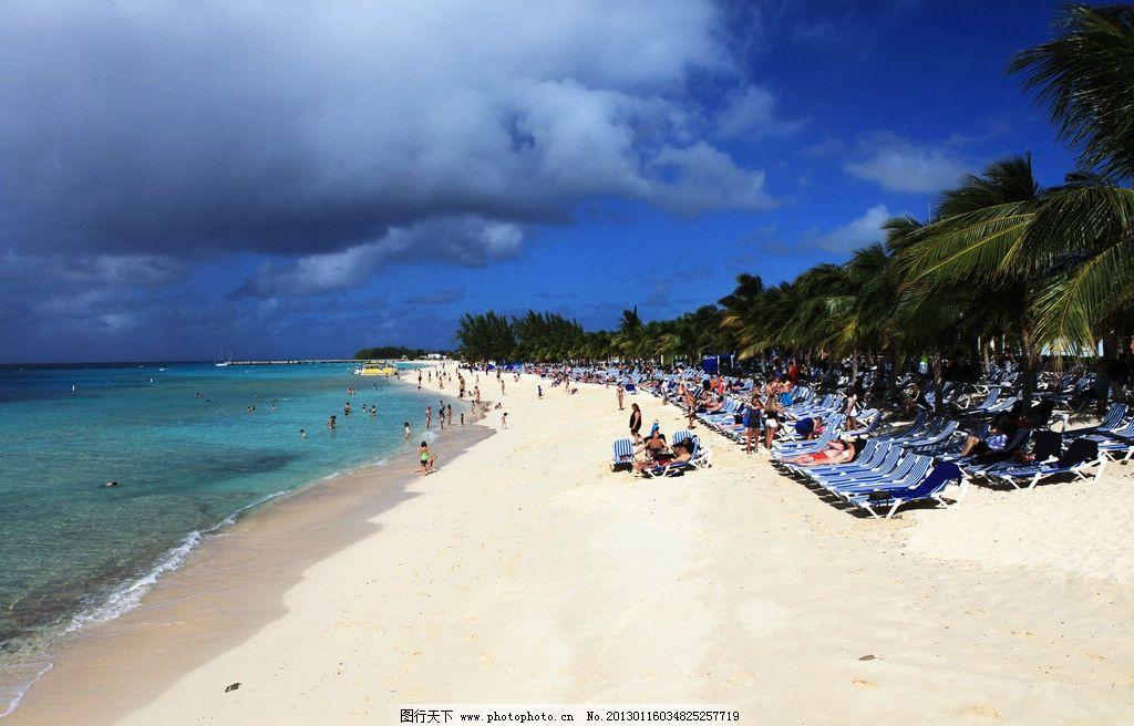 阳光沙滩蓝天白云 阳光海岸 沙滩 海滩 蓝天 白云 绿山 山峦 绿树