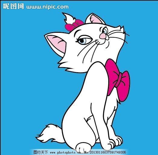 美丽猫可爱卡通图片图片