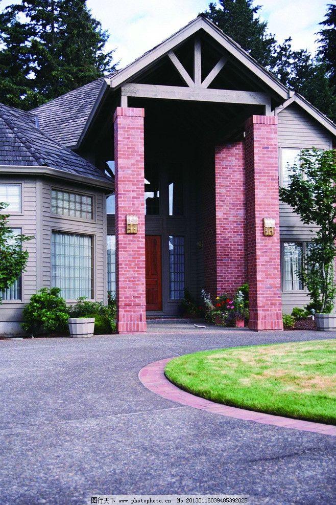 别墅 住宅 房地产 园林 建筑设计 建筑素材 高清素材 门口 大门 欧式