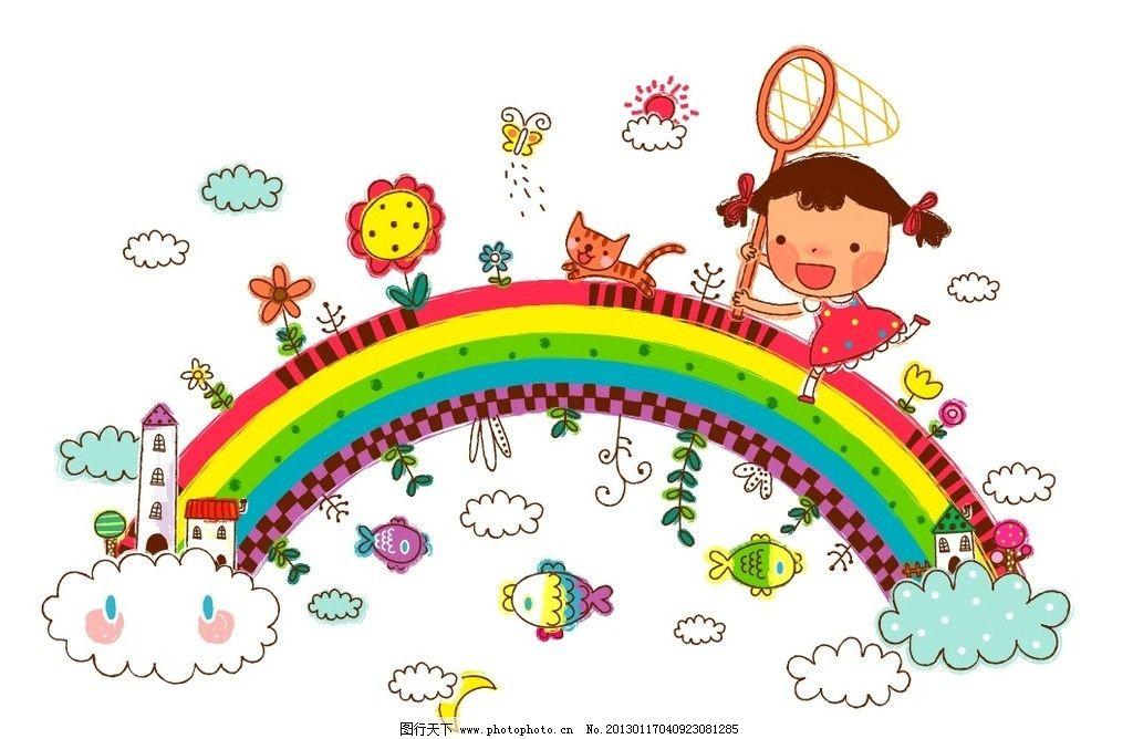 彩铅画 水彩画 版画 手绘 可爱 速写 系列图案 线条 漫画 童年生活