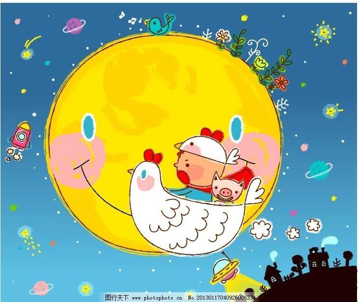 手绘 可爱 速写 系列图案 线条 漫画 童年生活 温馨图案 全矢量 卡通