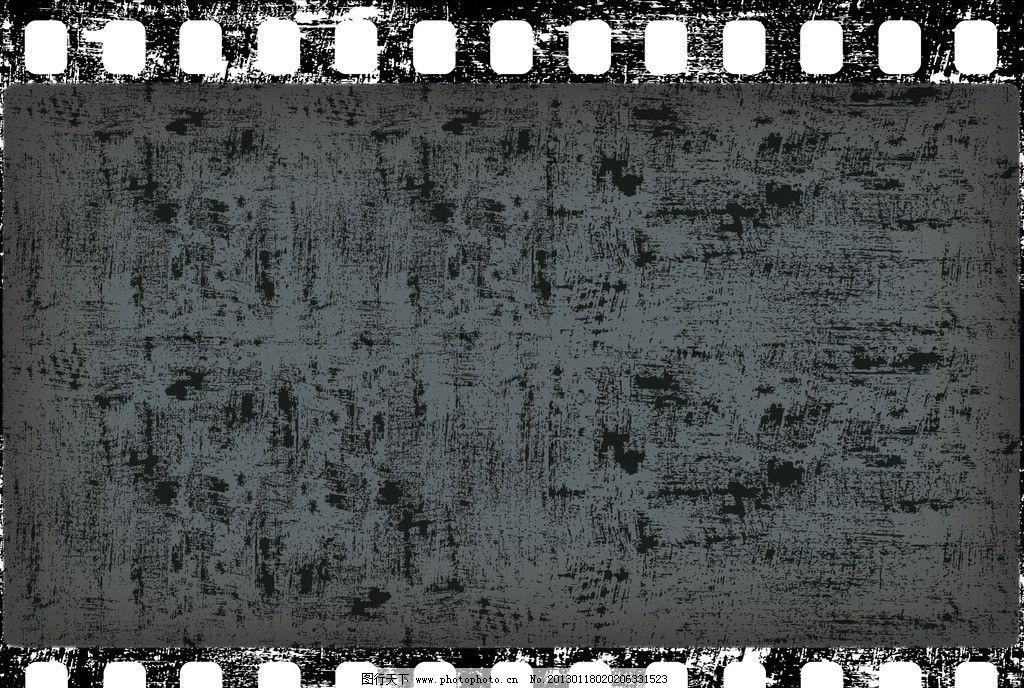 旧底片 旧胶卷 怀旧 复古 划痕 墨点 墨迹 墨痕 泼墨 胶片背景 胶片