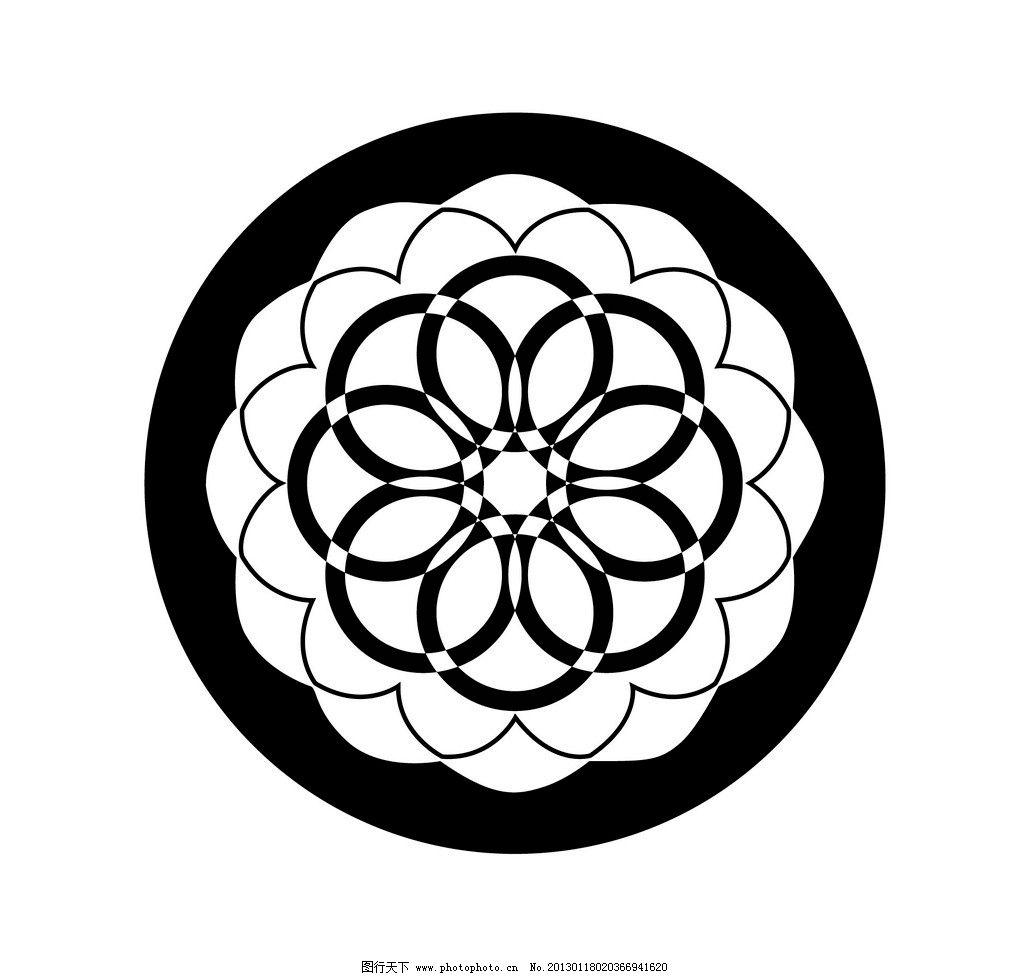 圆花纹图片
