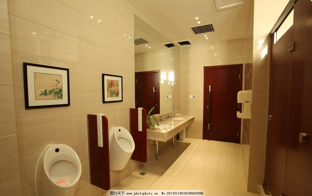 男厕 厕所 高级 壁画 洗手池 手盆 酒店 会馆 洗手间 室内摄影