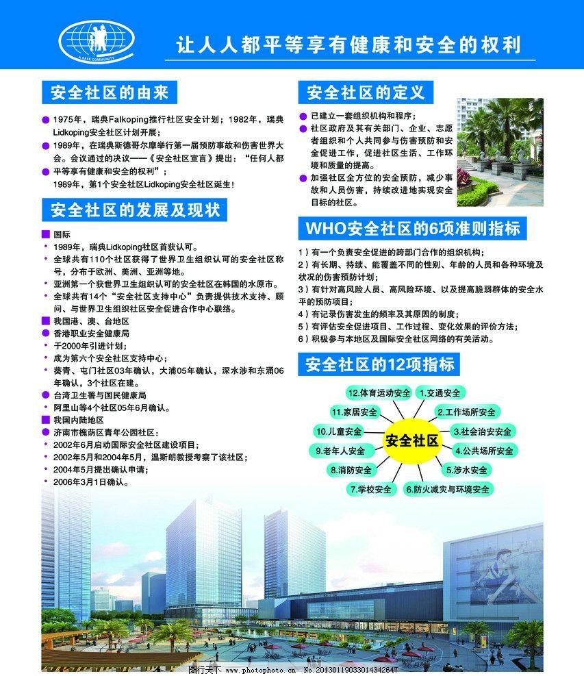 安全社区 安全社区标志 社区展板 安全社区定义 城市 创建安全社区