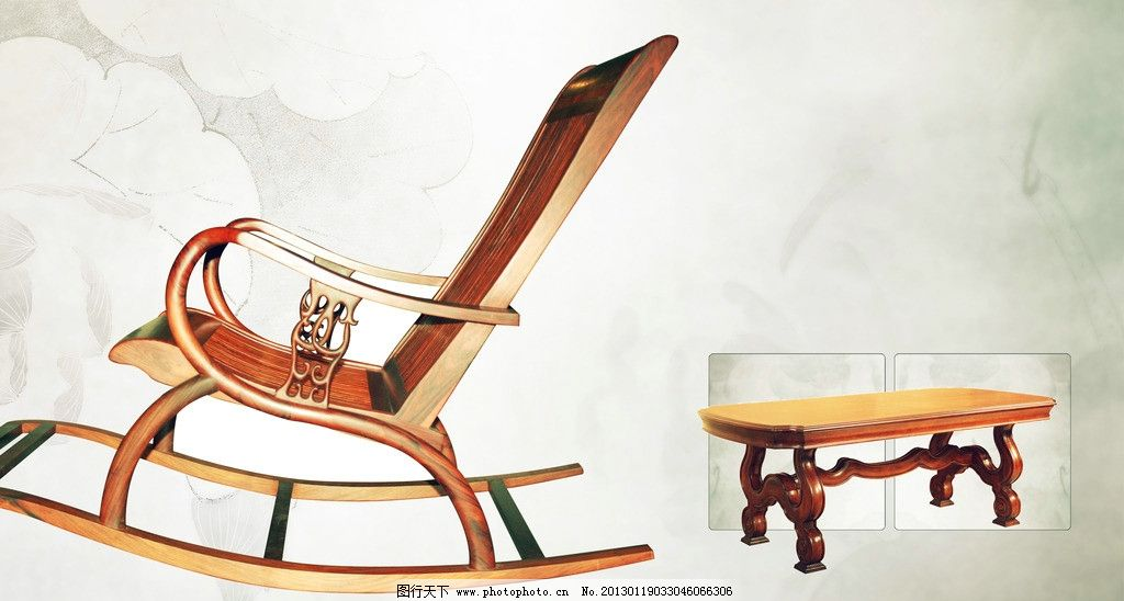 水墨 红木家具 古典 原尺寸大文件 喷绘 源文件