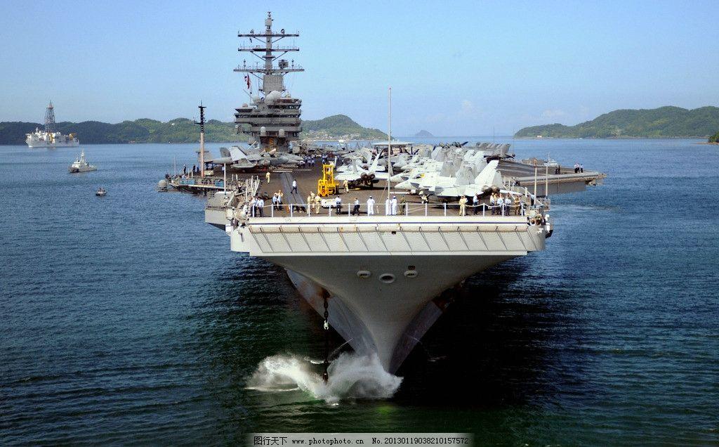 航母 航空母舰 战斗机 舰载机 军舰 大海 飞机 海军 空军 军事武器