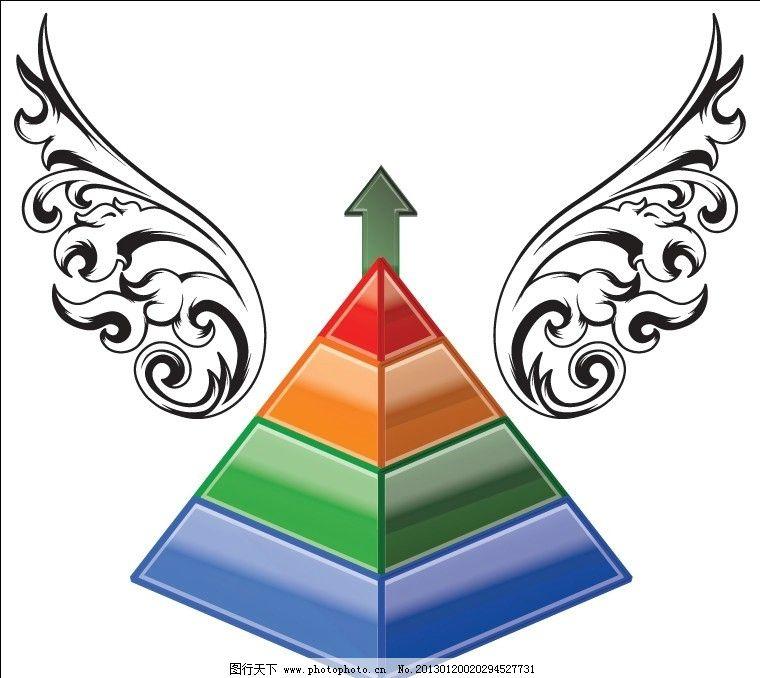 金字塔 花纹 七彩 彩虹 欧式花纹 背景底纹 底纹背景 底纹边框 矢量