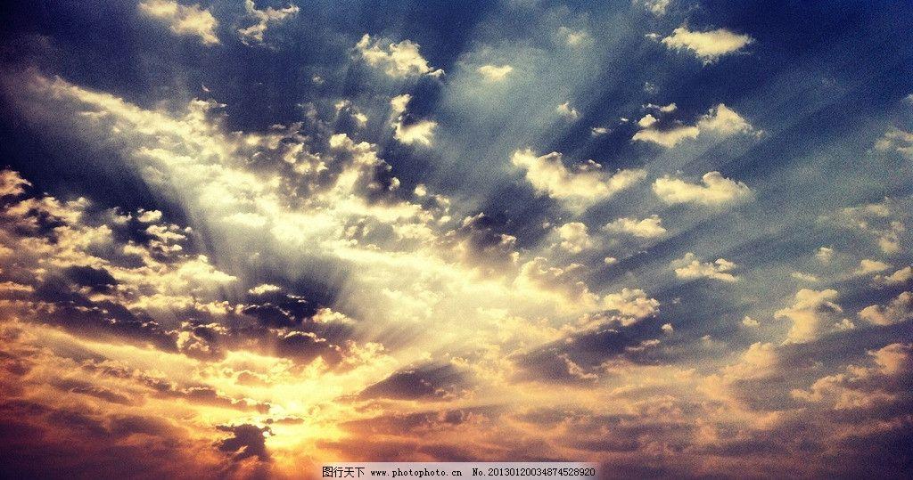 天空湛蓝 高清壁纸 天空 湛蓝 夕阳 西下 迷茫 太阳 阳光 自然风景