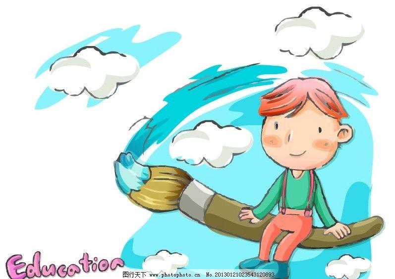 设计图库 人物图库 儿童幼儿  卡通儿童 卡通儿童插画 矢量儿童画卡通