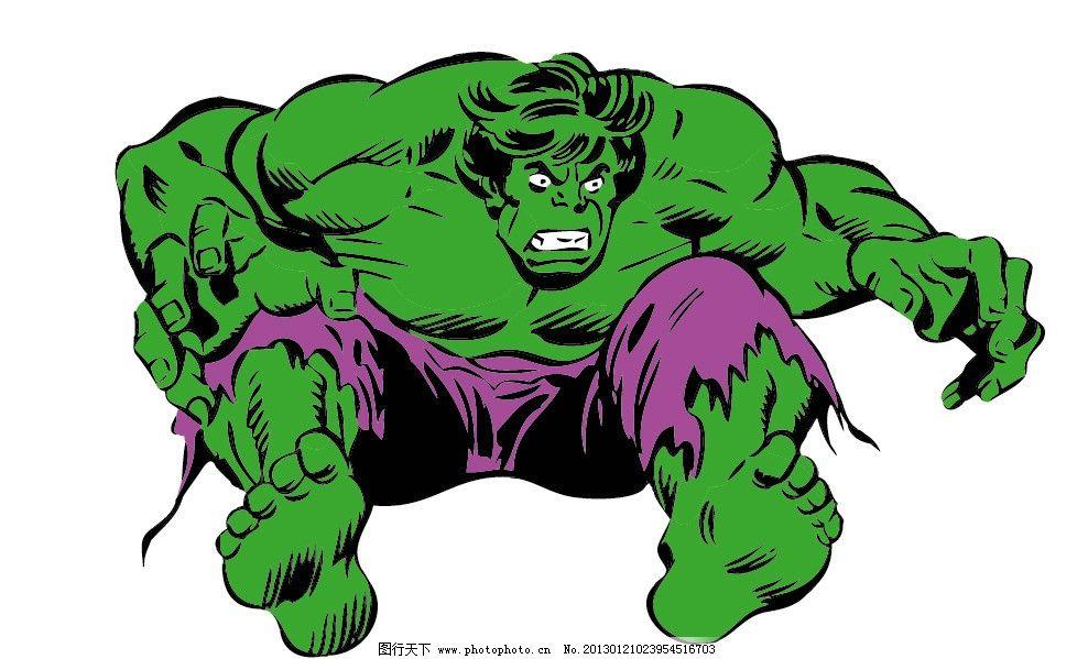 矢量动画绿巨人图片