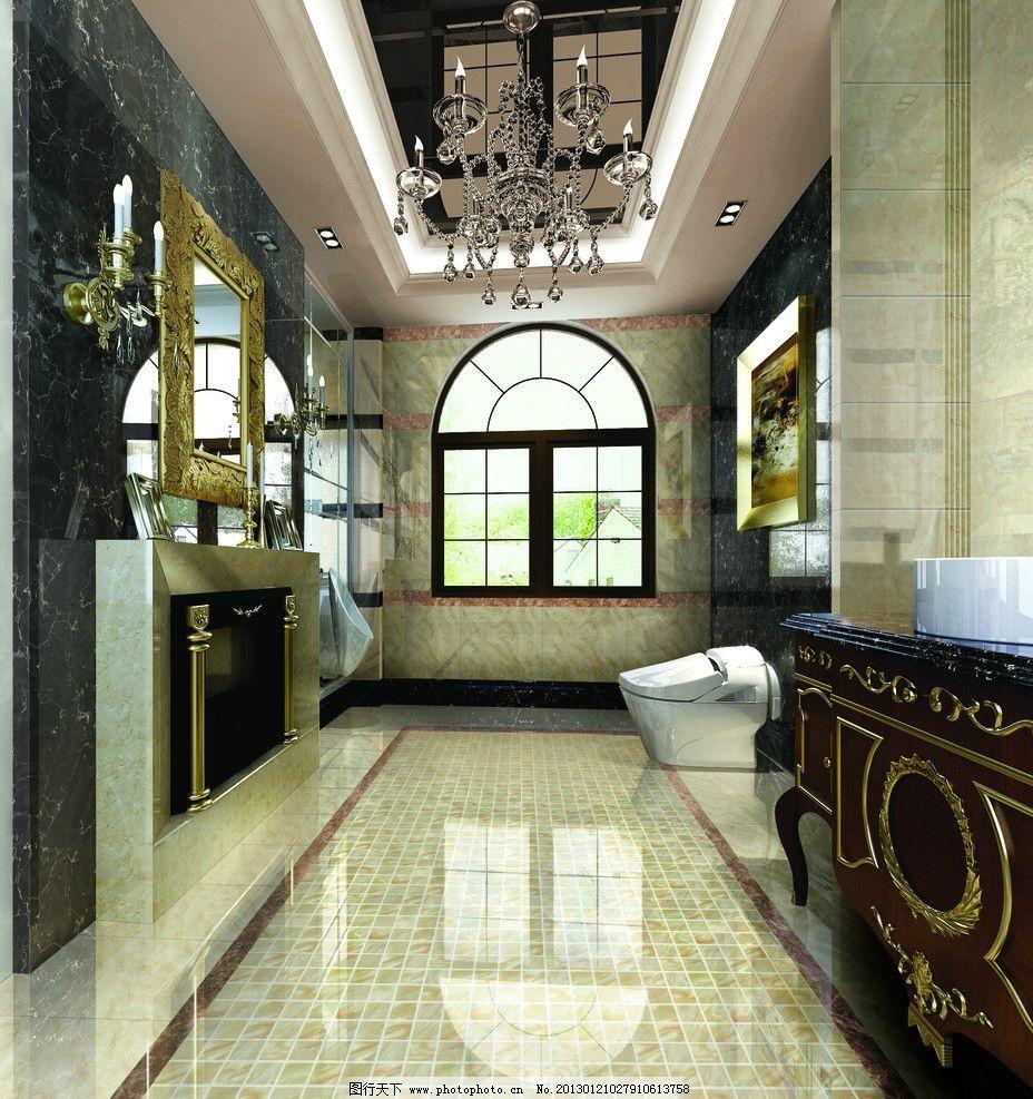 瓷片 卫浴空间 卫浴 马桶 洗手台 浴室 冲凉房        室内设计 环境