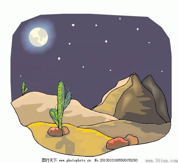 夜晚 月色免费下载 矢量图 其他矢量图