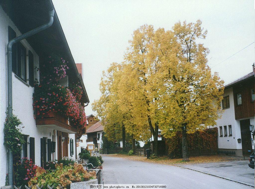 小镇街道 欧式民宅 建筑