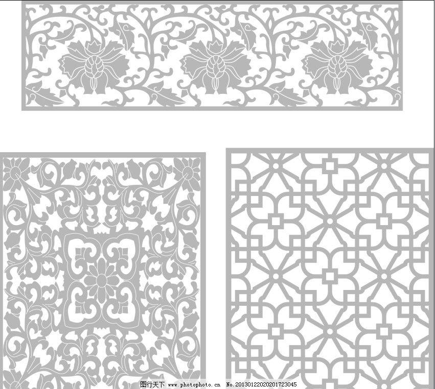 古典窗花 图案 仿古 欧美 矢量 图形 底纹背景 底纹边框 cdr