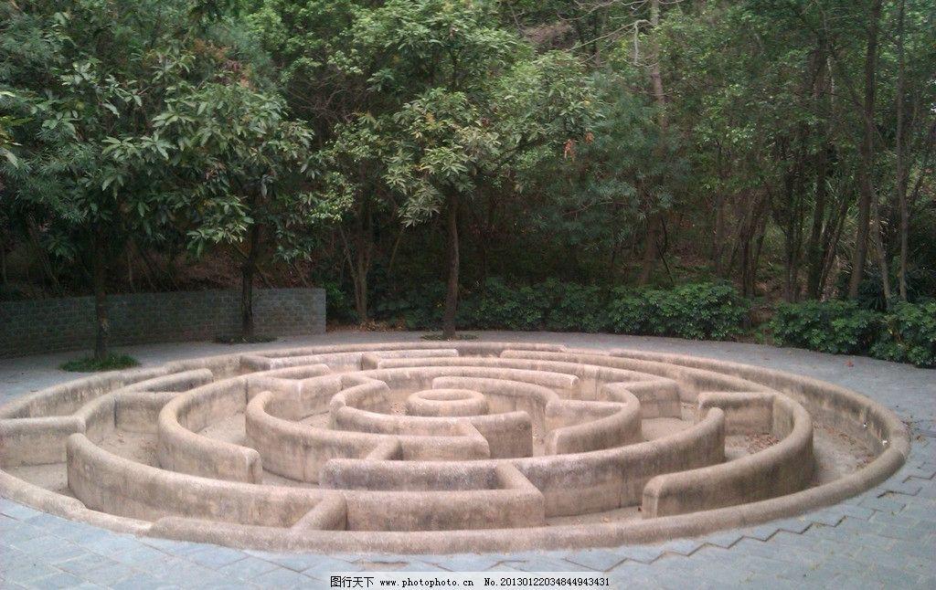 椭圆模纹迷宫平面