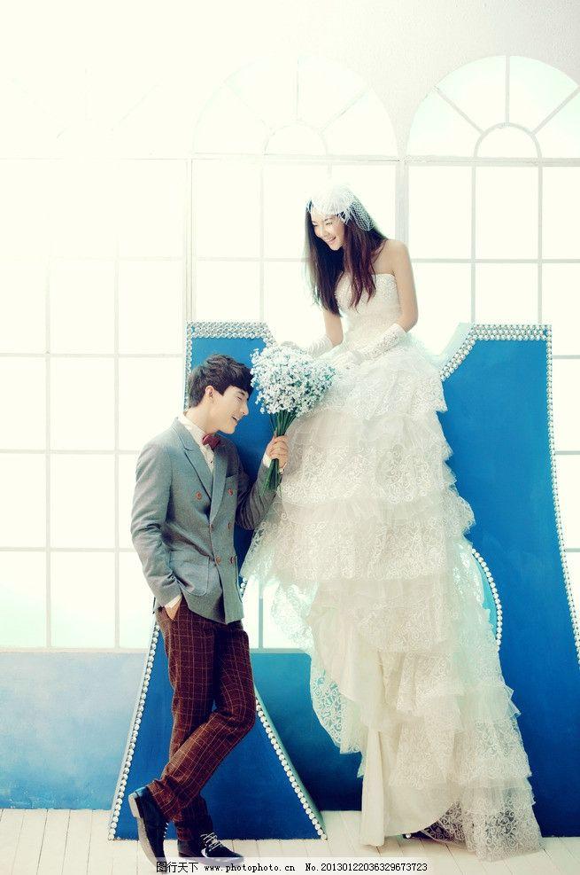 美人 艺术摄影 婚纱礼服 婚纱样片 唯美婚纱照 幸福恋人 新郎 可爱