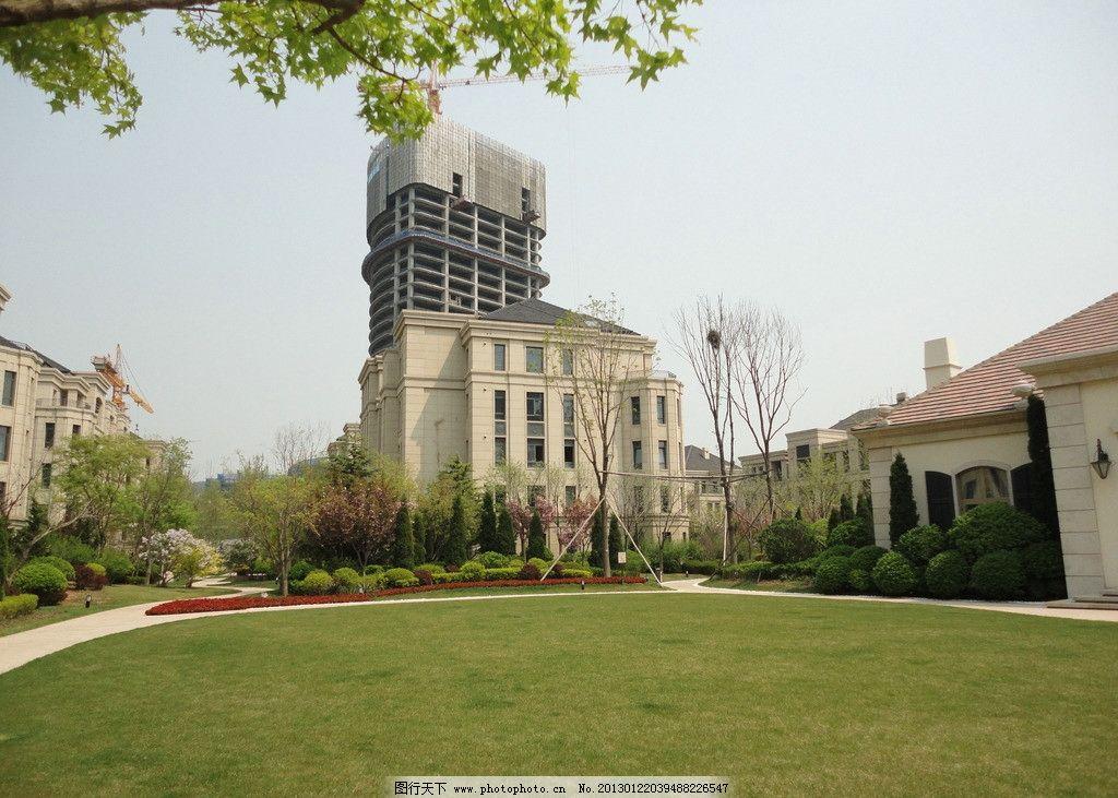 简欧风格植物 园林 欧式 草地 小区 别墅 方案 建筑摄影 建筑园林