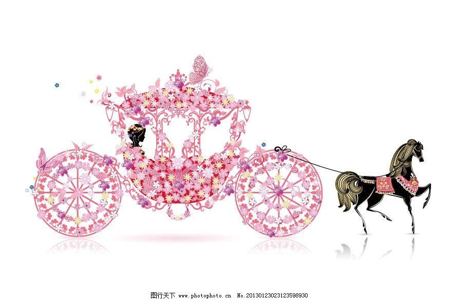 欧式婚礼马车 浪漫新娘图片