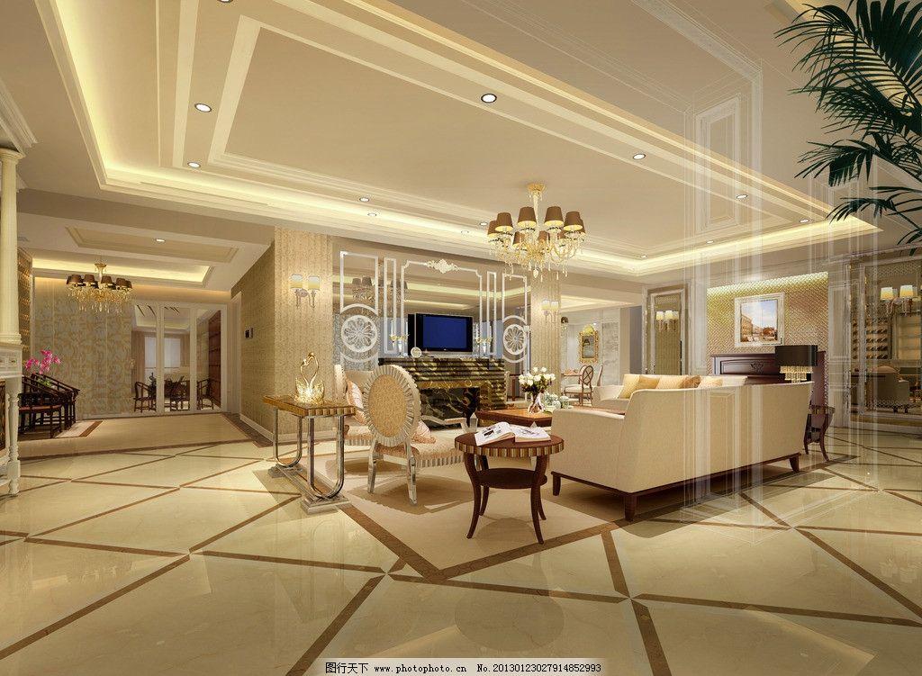 客厅效果图      欧式风格