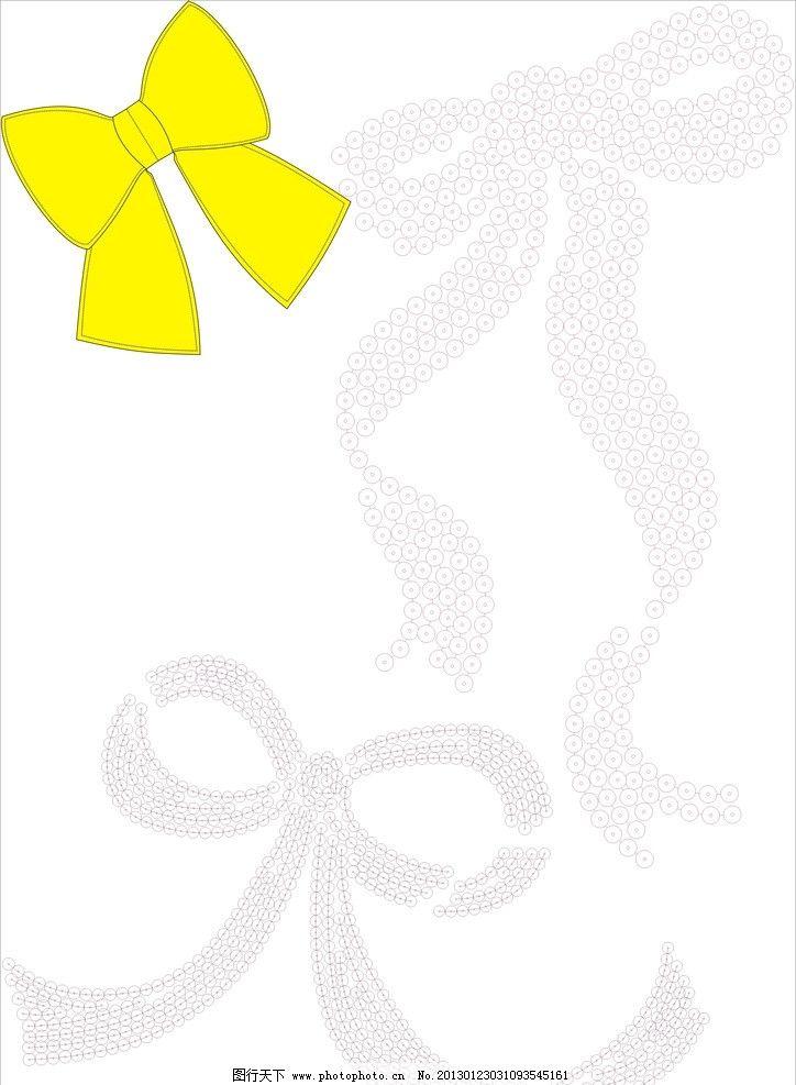 蝴蝶结 圣诞节矢量素材图片