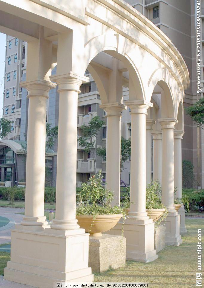 180dpi jpg 长廊 建筑园林 廊架 欧式 欧式建筑 摄影 园林建筑 欧式廊图片