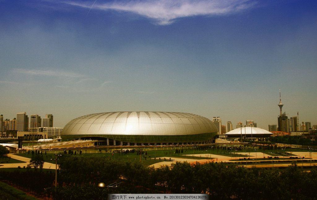 天津奥林匹克体育场 天津 体育场 水滴 建筑景观 自然景观 摄影 72dpi