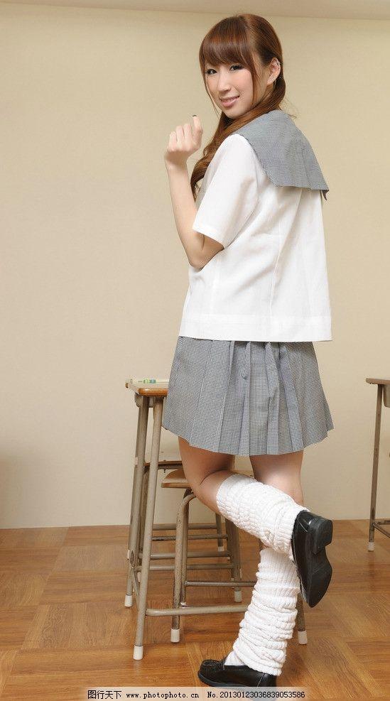 小辫子学生 气质 清纯 性感 短裙 可爱 美女 制服 学生装美女 女性