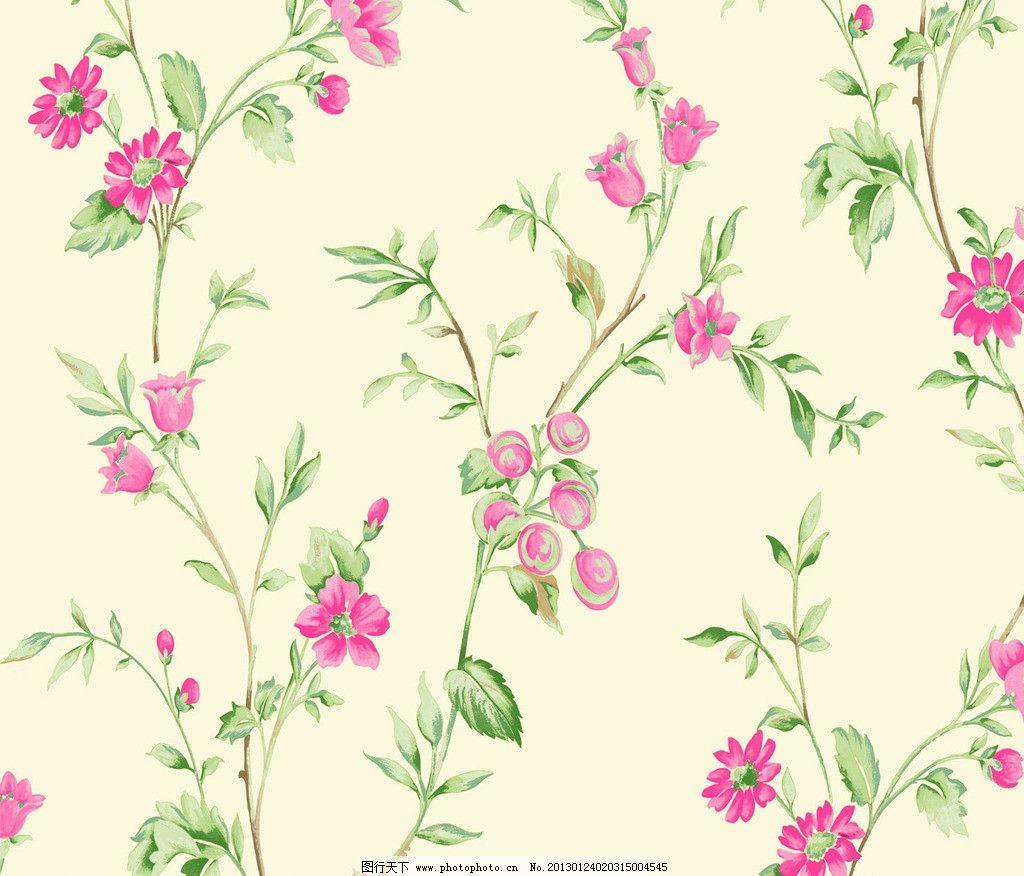 田园风手绘花藤条壁纸 撇丝花 藤条花 藤条花壁纸 花边花纹 底纹边框