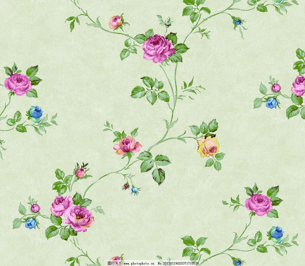 手绘花 田园风 壁纸 藤条花 藤条花壁纸 花边花纹 底纹边框 设计 100