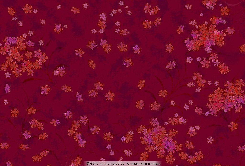 布艺背景 花朵 花纹 红色 暗红 花色 背景 花边花纹 底纹边框 设计