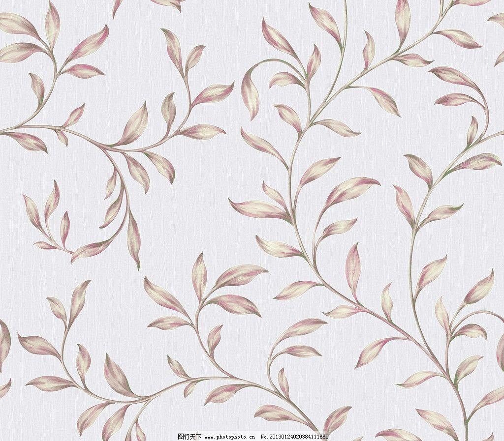 田园风藤条壁纸 手绘叶子 花边花纹 底纹边框