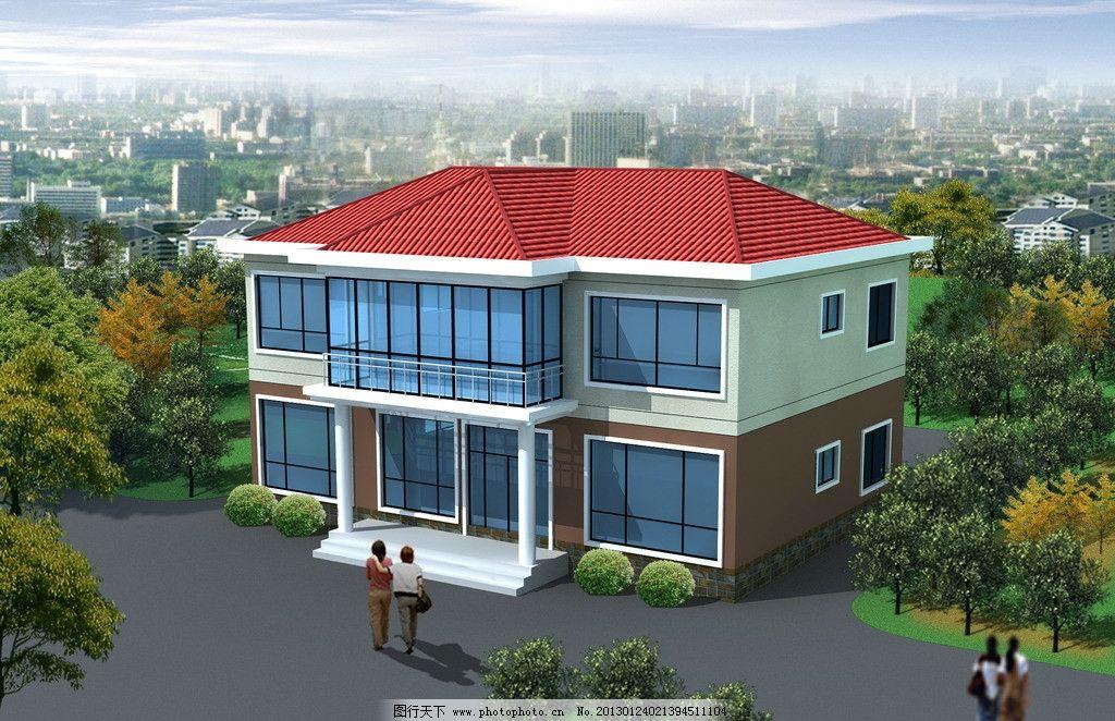 二层别墅模型图片