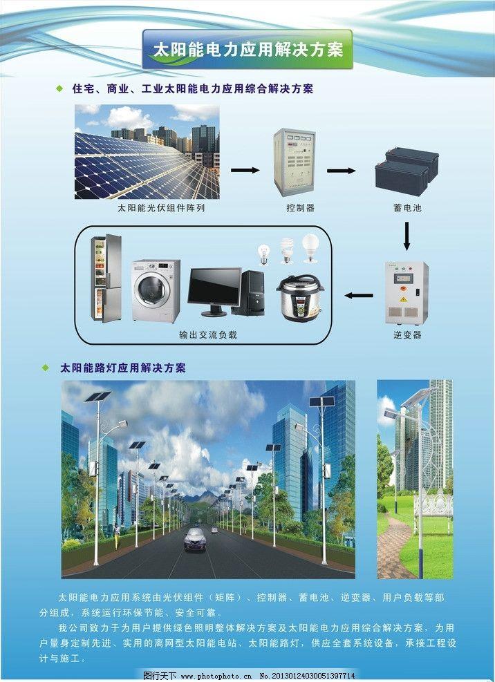 太阳能光伏发电展板 蓄电池 逆变器 控制器 矢量