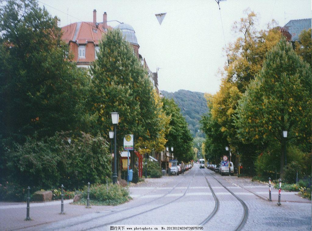 欧式林荫街道图片